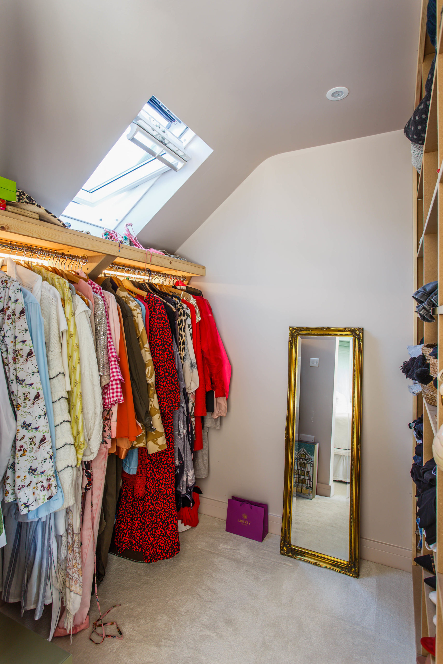 walk in wardrobe in loft conversion
