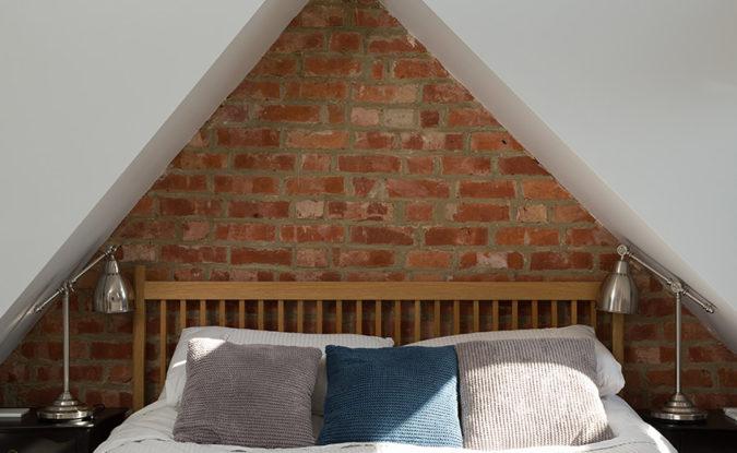 exposed brick loft