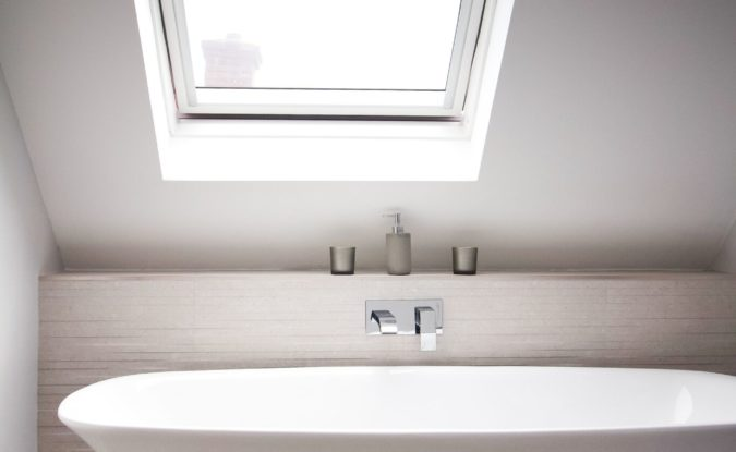 rooflight loft bathroom