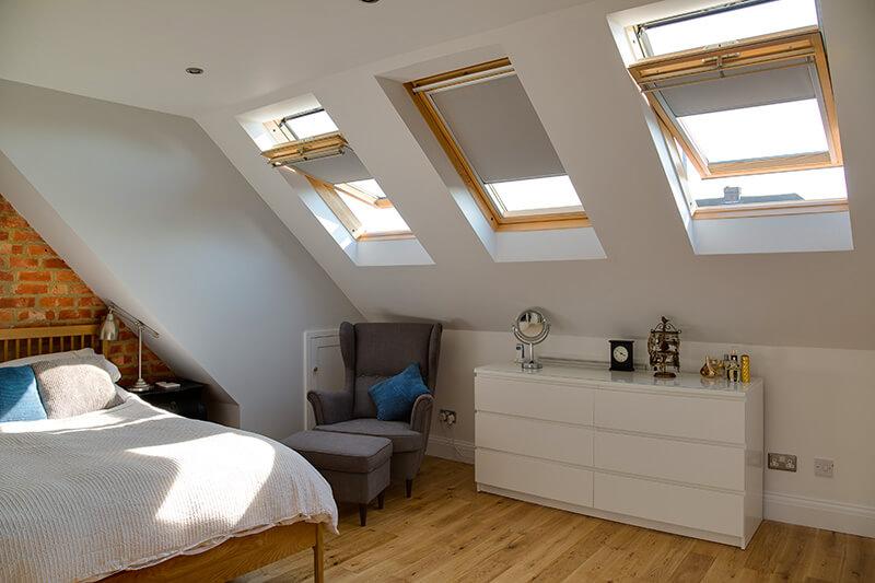 Loft with 3 VELUX windows